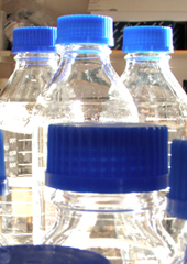 Photo: bottles with blue cap